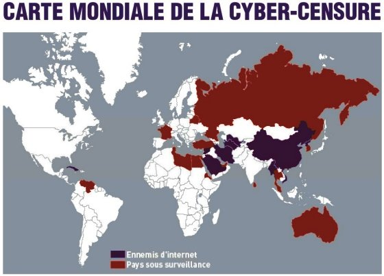 Carte Cyber-censure